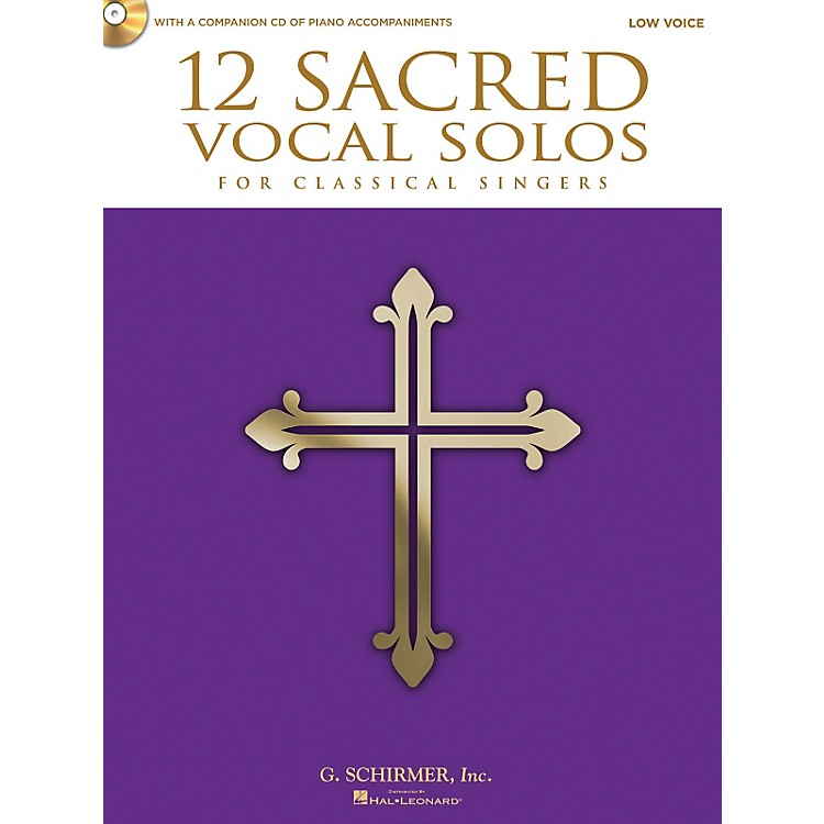 Hal Leonard12 Sacred Vocal Solos - Low Voice And Piano - With A CD Of Piano Accompaniments