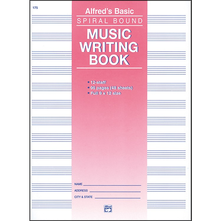 Alfred 12 Stave Music Writing Book (9 x 12)
