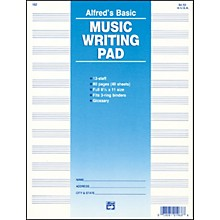 """Alfred 12 Stave Music Writing Pad (8 1/2"""" x 11"""")"""