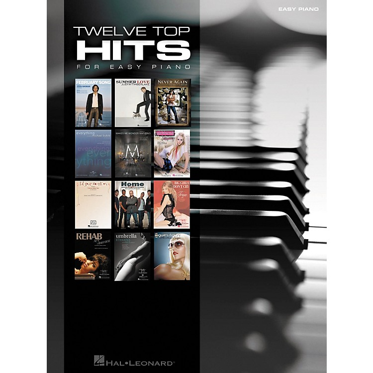 Hal Leonard 12 Top Hits For Easy Piano 2007 Edition