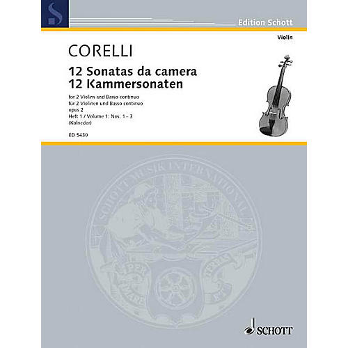 Schott Music 12 Trio Sonatas Op. 2, Nos. 1-3 (Score and Parts) Schott Series Composed by Arcangelo Corelli-thumbnail