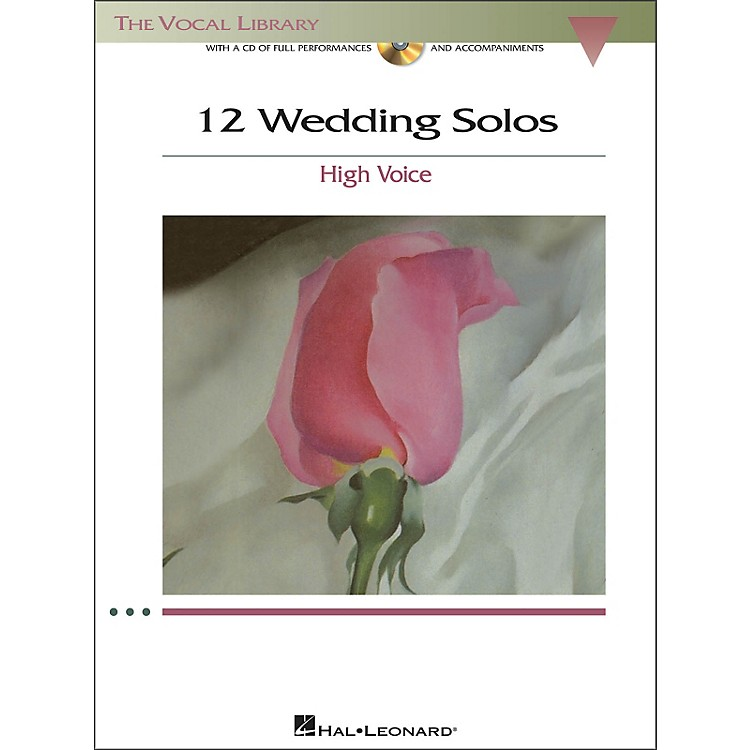 Hal Leonard 12 Wedding Solos for High Voice (The Vocal Library) Book/CD