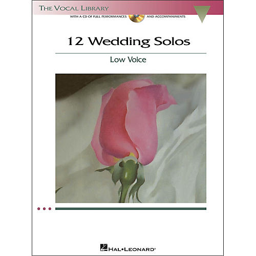 Hal Leonard 12 Wedding Solos for Low Voice (The Vocal Library Series) Book/CD