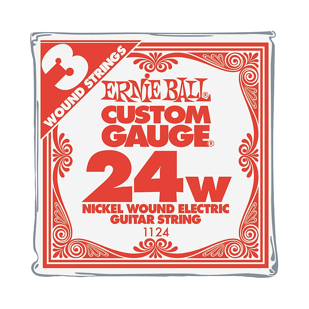 ernie ball nickel wound single guitar strings 3 pack 024 gauge 3 pack ebay. Black Bedroom Furniture Sets. Home Design Ideas