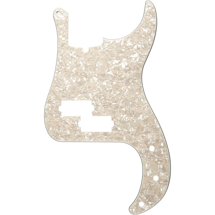 Fender13 Hole Standard P Bass Pickguard Aged White Pearl