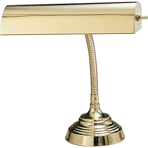 House of Troy #130 Polished Brass Piano Lamp