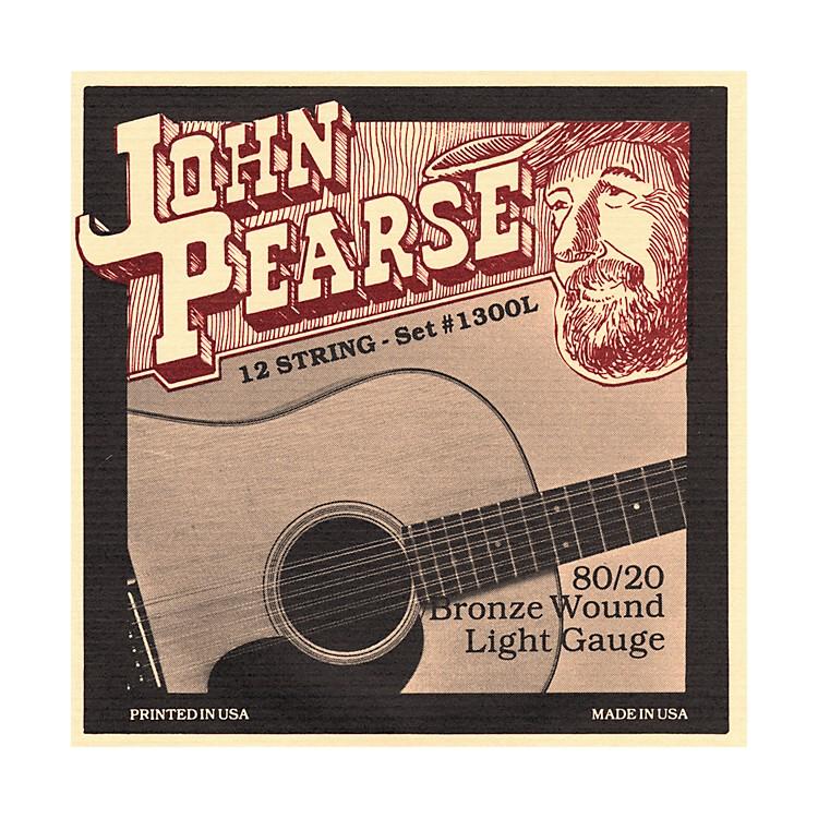 John Pearse1300L 12-String 80/20 Bronze Acoustic Guitar Strings