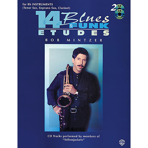 Alfred 14 Blues & Funk Etudes for B-Flat Instruments Book/2 CDs-thumbnail