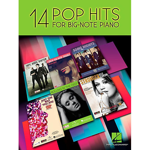 Hal Leonard 14 Pop Hits For Big Note Piano-thumbnail