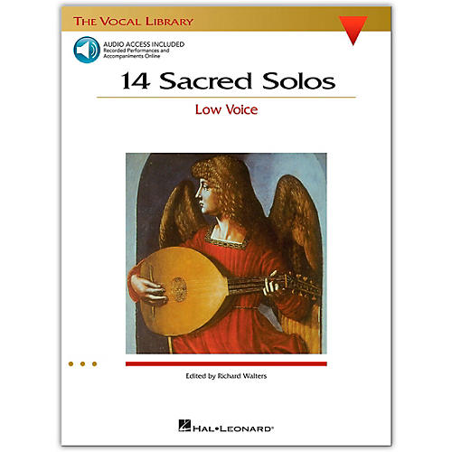 Hal Leonard 14 Sacred Solos for Low Voice (Book/Online Audio)-thumbnail
