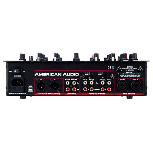 American Audio 14MXR 4-Channel MIDILOG DJ Mixer