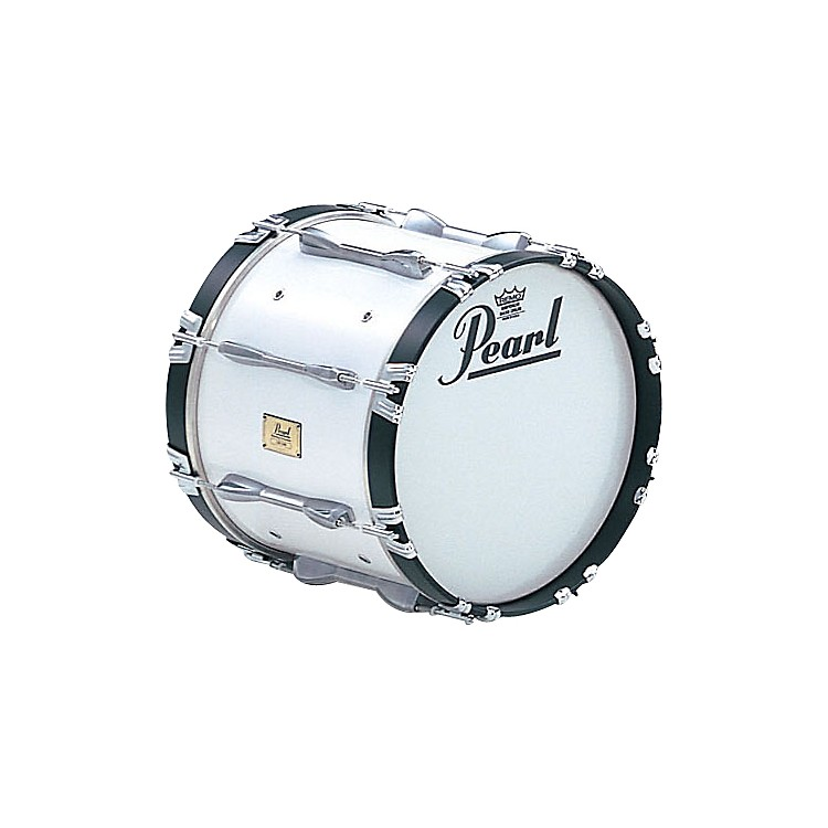 Pearl 14x14 Championship Series Marching Bass Drum Pure White