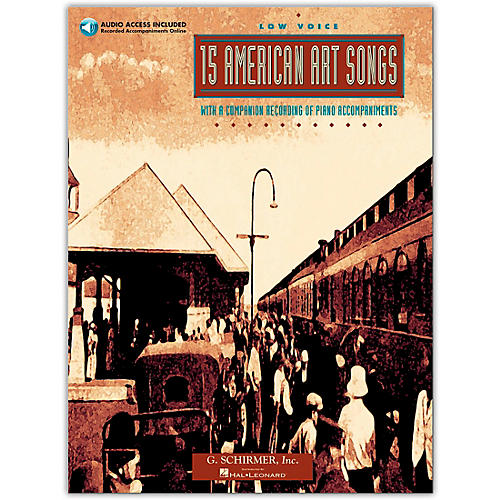 G. Schirmer 15 American Art Songs for Low Voice Book/CD