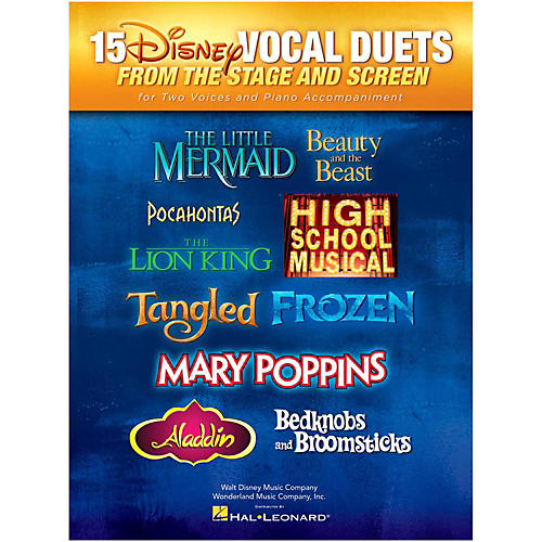 Hal Leonard 15 Disney Vocal Duets from Stage and Screen for 2 Voices And Piano Accompaniment-thumbnail