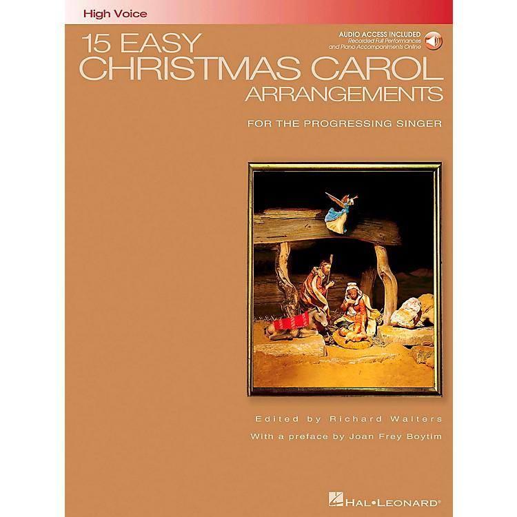 Hal Leonard15 Easy Christmas Carol Arrangements for High Voice Book/CD