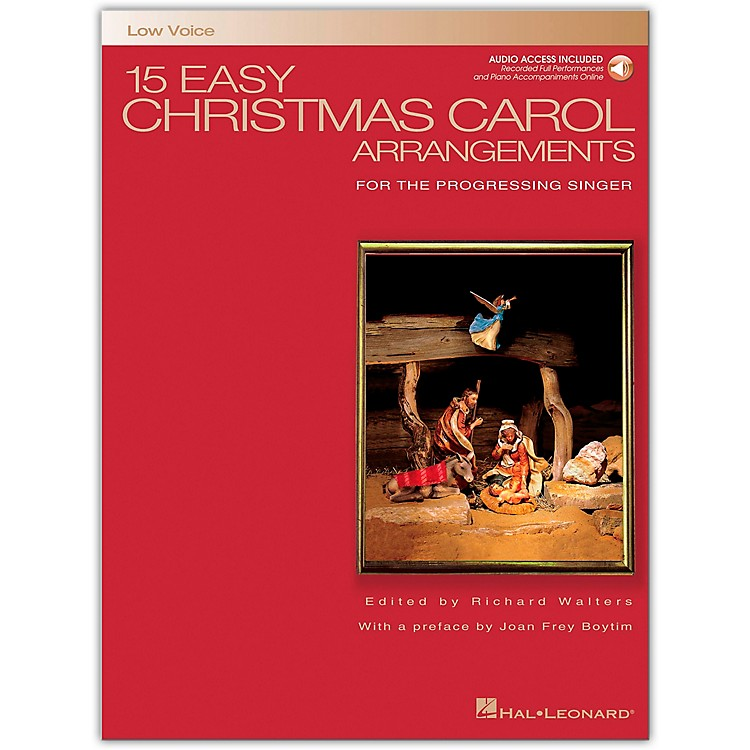 Hal Leonard 15 Easy Christmas Carol Arrangements for Low Voice Book/CD