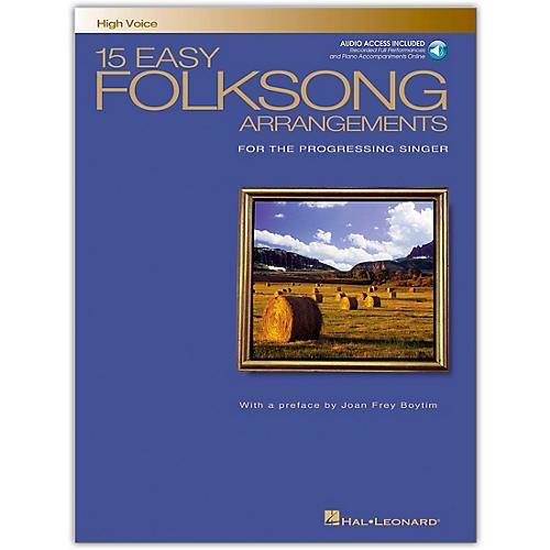 Hal Leonard 15 Easy Folksong Arrangements for High Voice (Book/Online Audio)