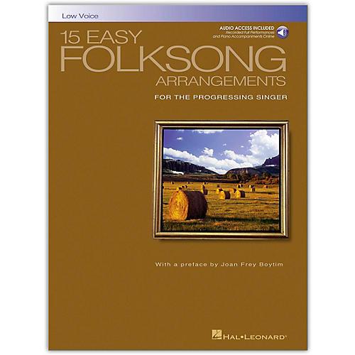 Hal Leonard 15 Easy Folksong Arrangements for Low Voice (Book/Online Audio)-thumbnail