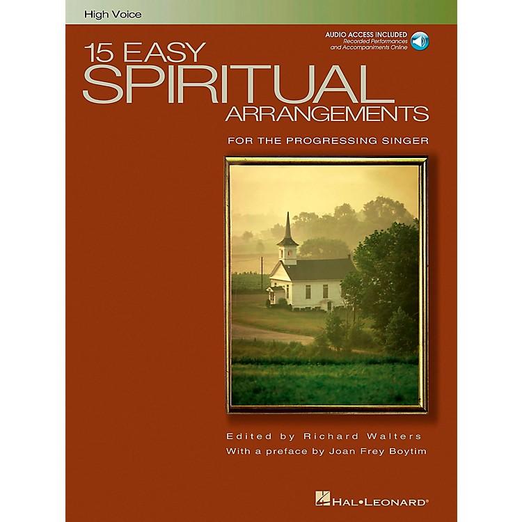 Hal Leonard15 Easy Spiritual Arrangements for High Voice Book/CD