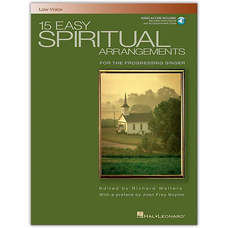 Hal Leonard15 Easy Spiritual Arrangements for Low Voice Book/CD