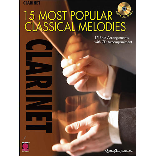 Cherry Lane 15 Most Popular Classical Melodies for Clarinet Book/CD