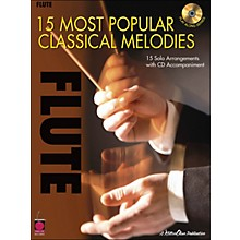 Cherry Lane 15 Most Popular Classical Melodies for Flute Book/CD