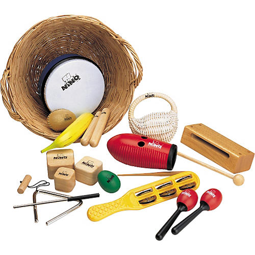 Nino 15-Piece Percussion Assortment with Basket-thumbnail