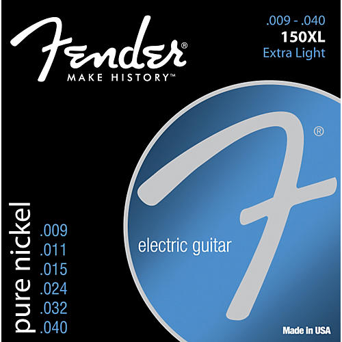 Fender 150XL Original Pure Nickel Electric Strings - Extra Light