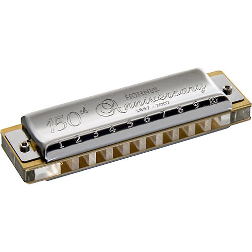 Hohner 150th Anniversary Jubilee Harmonica - Stainless Steel in the Key of C