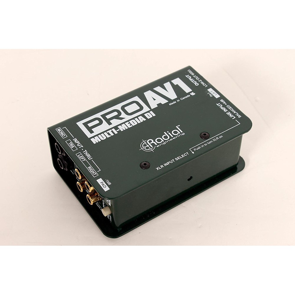 Used Radial Engineering Proav1 Single-Channel Direct Box Regular 888365150895