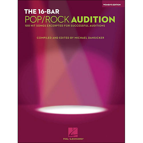 Hal Leonard 16 Bar Pop/Rock Audition Women's Edition