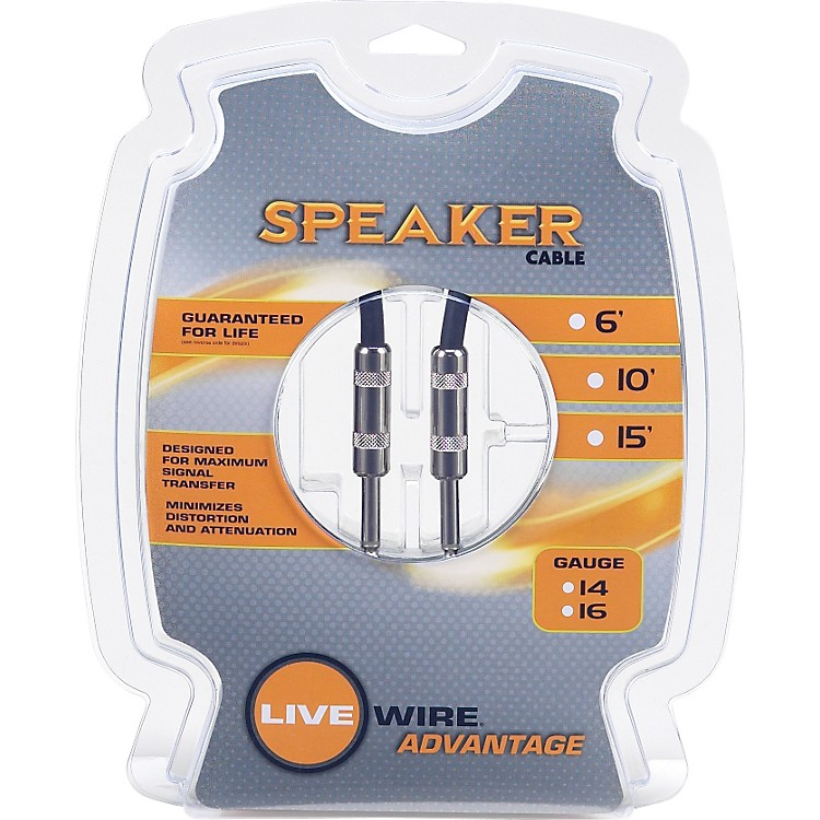 Live Wire 16-Gauge Speaker Cable  15 Foot