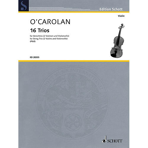 Schott Music 16 Trios (String Trio Score and Parts) String Series Softcover Composed by Turlough O'Carolan-thumbnail