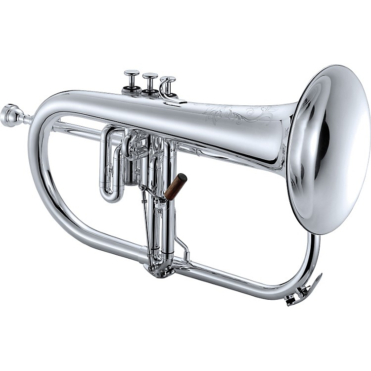 Jupiter 1646 XO Professional Series Bb Flugelhorn Silver Yellow Brass Bell