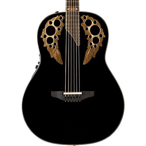 Ovation 1678AV50-5 50th Anniversary Custom Elite Shallow Acoustic-Electric Guitar Gloss Black