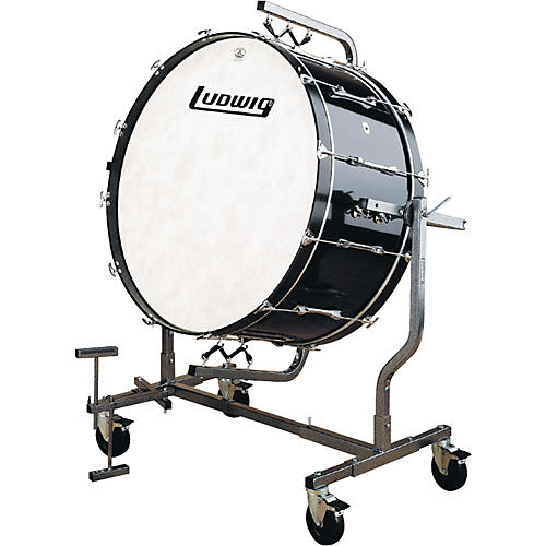 Ludwig 16X32 CONCERT BASS DRUM BLACK WITH LE788 STAND-thumbnail