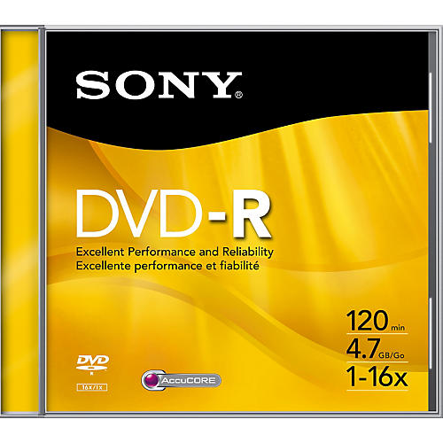 Sony 16x DVD-R Recordable DVD Disc