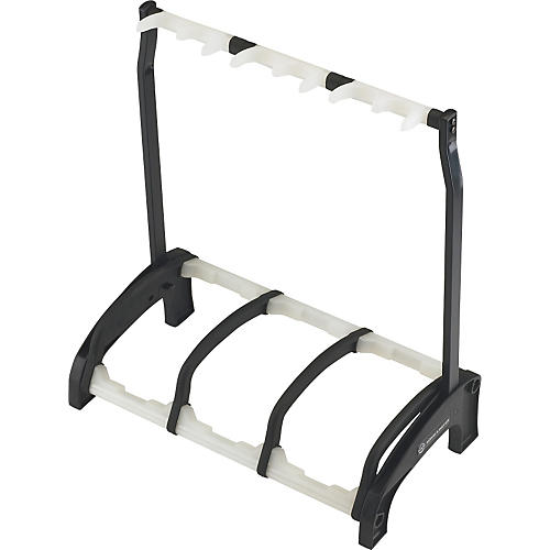K&M 17513.016.00 Guardian 3 Guitar Stand Rack-style (3 Guitars) Translucent