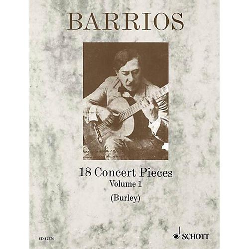 Schott 18 Concert Pieces for Solo Guitar - Volume 1 Schott Series-thumbnail