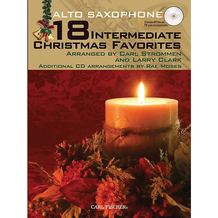 Carl Fischer18 Intermediate Christmas Favorites - Alto Saxophone Book/CD