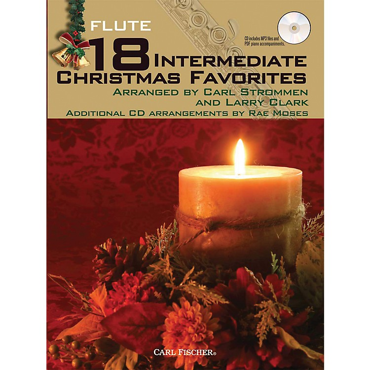 Carl Fischer 18 Intermediate Christmas Favorites - Flute Book/CD