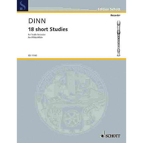 Schott 18 Short Studies (Treble Recorder) Schott Series