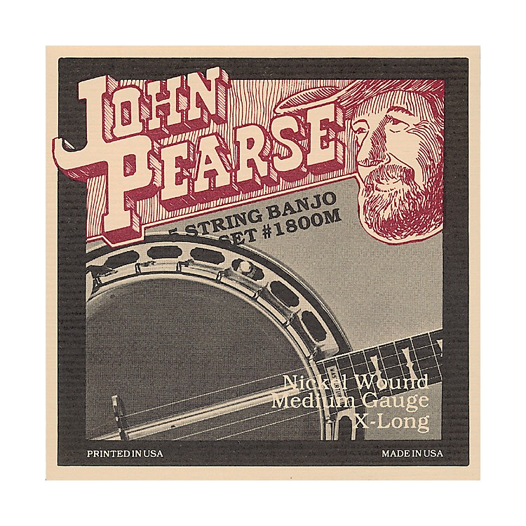 John Pearse 1800M Medium Banjo Strings