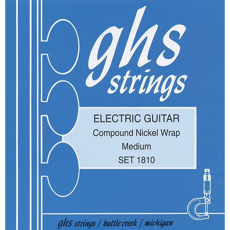 GHS 1810 Compound Nickel Wrap Medium - Wound Third String