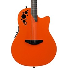 1868TX Elite Spalted Maple Acoustic-Electric Guitar Gloss Orange