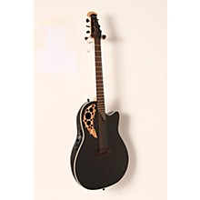Ovation 1868TX Elite Spalted Maple Acoustic-Electric Guitar Level 2 Gloss Black 888366059319
