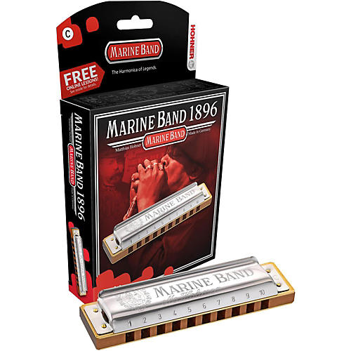 Hohner 1896 Marine Band Natural Minor Harmonica-thumbnail