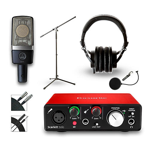 focusrite 18i18 recording bundle with akg c214 microphone and audio technica ath m50x musician. Black Bedroom Furniture Sets. Home Design Ideas