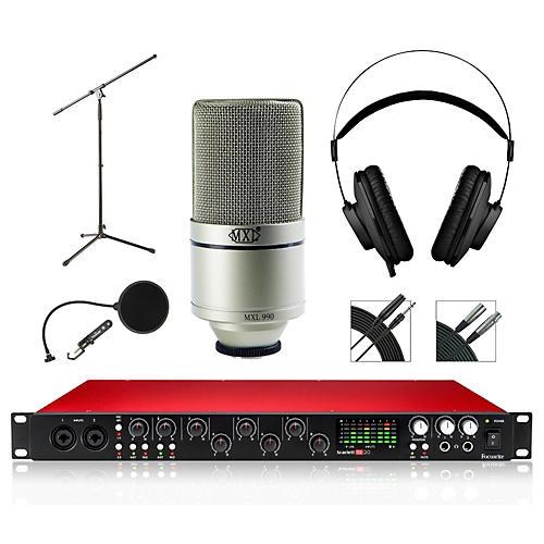 Focusrite 18i20 Recording Bundle with MXL 990 Mic and AKG Headphones-thumbnail