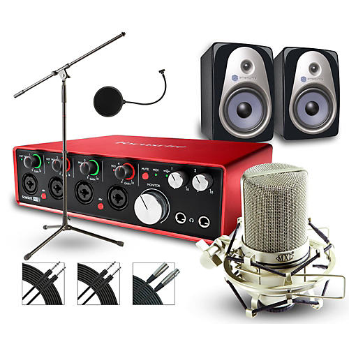 Focusrite 18i8 Recording Bundle with MXL Mic and Sterling Monitors-thumbnail